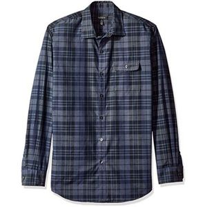 VAN HEUSEN HEATHERED PLAID SHIRT